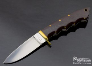 Lloyd Hale Custom Knife Finger Groove Fixed Blade with Brass Guard 11292