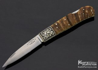 Frank Centofante Custom Knife Loveless Design Ramshorn Lockback Engraved by David Perdue 11254