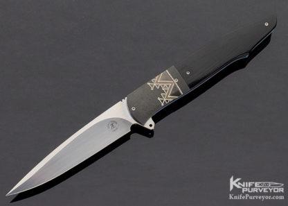 Andre Thorburn Custom Knife Zirconium & Black Micarta Linerlock Flipper 11337