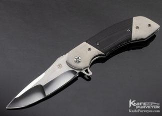 Olamic Cutlery Custom Knives Wayfarer Black G-10 Linerlock Flipper 11294
