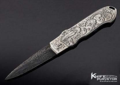 Rick Eaton Custom Knife Sole Authorship Engraved Prototype Automatic Lockback 11427