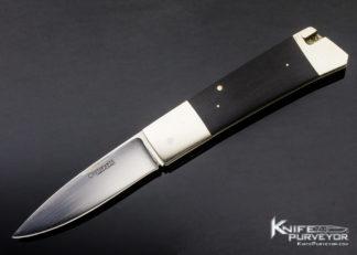 Frank Centofante Custom Knife African Blackwood Side Lock 11373